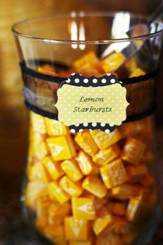 Lemon Starbursts! My Favorite.  I like the presentation.
