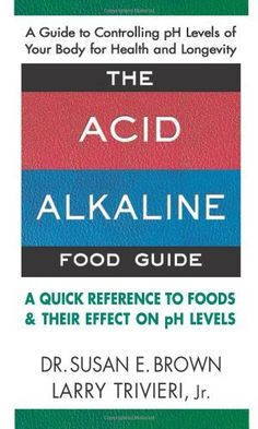 The Acid-Alkaline Food Guide: A Quick Reference to Foods & Their Effect on pH Levels by Susan E. Brown, http://www.amazon.com/gp/product/0757002803/ref=cm_sw_r_pi_alp_Sz6Bqb1AJPMS3