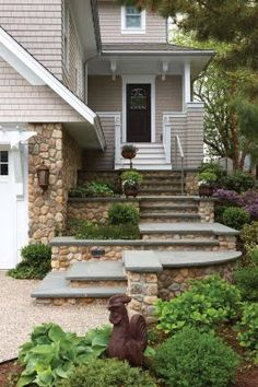 stone w/ siding stone steps, front entrances, color, dream, new homes, curb appeal, rock, hous, wrap around porches