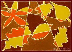 cubist style, fall leaves, fall art, art project, school, autumn leaves, art lesson, kid artist, herfst