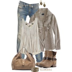 A fashion look from September 2014 featuring American Eagle Outfitters cardigans, Calypso St. Barth tops and Diesel jeans. Browse and shop related looks.