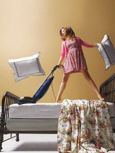 How to clean your mattress (I just want to look like this while doing it!)
