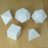 A site that has EVERY 3D shape imaginable as a PDF so your kids can print, cut, fold and glue! Even lists the number of faces, edges, and vertices.