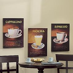 Cafe kitchen on pinterest coffee themed kitchen for Cafe themed kitchen ideas