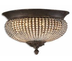 Uttermost Cristal De Lisbon Flush Ceiling Mount - Trade out those typical builder lights for some bling!