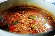 spici bean, mothers day, pinto beans, pioneer woman, food, bell peppers, cooking, bean recip, pioneer women