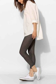 Kimchi Blue Sheer Ribbed Knit Legging - Urban Outfitters