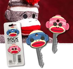 sock monkey key caps