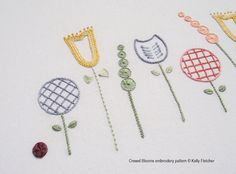 Crewel Blooms hand embroidery pattern