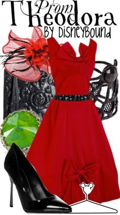 """Such a classy and classic Theodora inspired Disneybound outfit from Disney's take on """"The Wizard of Oz""""!! ♥"""