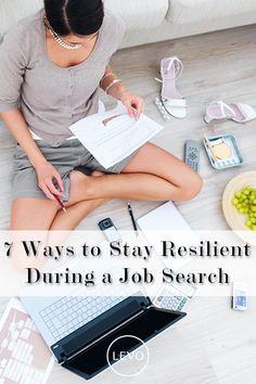 Job hunt tips for positivity.