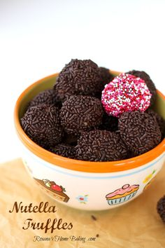 Irresistible Nutella Truffles from Roxanashomebaking.com Easy and totally foolproof