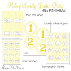 Relief Society Garden Party {free conversation cards}