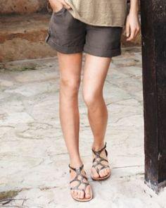 Relaxed Linen Drawstring Shorts