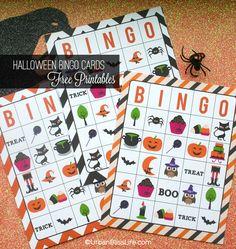 FREE Halloween Bingo Card Printables
