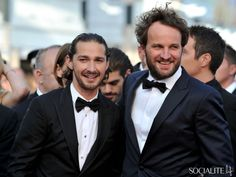 Shia LaBeouf and Jason Clarke at the 'Lawless' premiere at the Cannes Film Festival