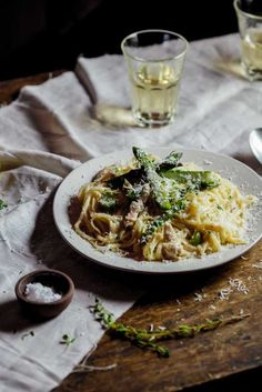 Lemon, chicken & asparagus pasta