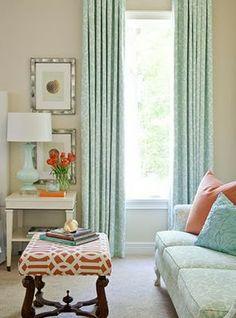 Mint & coral color scheme