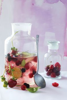 Summer berry and lime punch