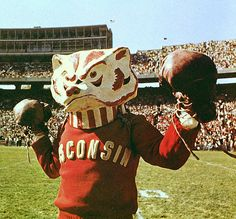 Wisconsin Badgers mascot Bucky Badger as pictured in 1965.