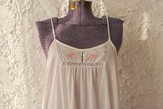 Vintage 1970s White Maxi Nightgown - Large on Etsy, $27.00