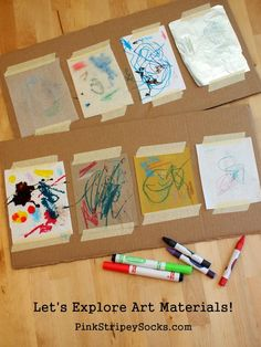 Explore different art materials with kids in a scientific way!