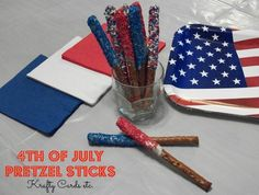 4th of July Pretzel Sticks