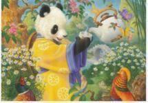 Panda postcard celestial seasonings tea