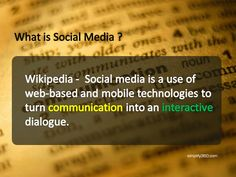 What is #social #media?