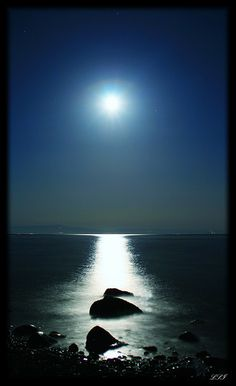 Once in a Blue Moon by Kuzeytac, via Flickr