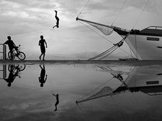 Puddle pool after the rain - by Ahmed Zahid, via Flickr