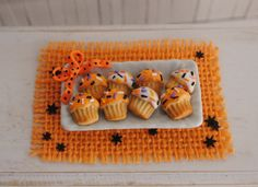 Miniature Halloween Cupcake Cookies