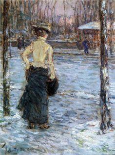 Winter, Central Park - Childe Hassam