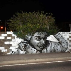 street art utopia, tree graffiti, artist, streetart