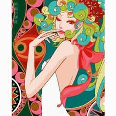 Beautiful art works from amazing artists on pinterest for Pre printed canvas to paint for adults