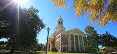 I love fall. // #Baylor University's Pat Neff Hall #beautifulcampus