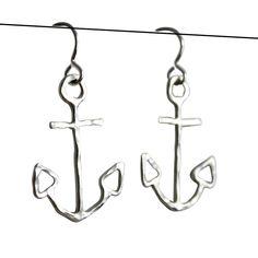 anchors, fashion, anchor earring, accessori, earring silver, sterling silver, jewelri, earring sterl, earrings