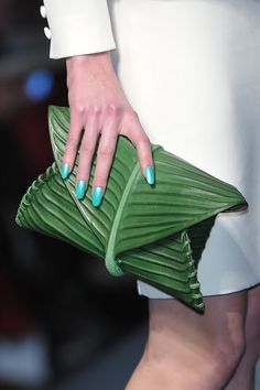 What's more green than an inspiration from mother nature herself? palm, street fashion, handbag, nature beauty, jean paul gaultier, purs, clutches, leaves, bags