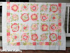 french rose, heather french, quilt patterns, cabbage rose quilt, quilt top, appliqu, rose pattern, edg rose, flower quilts