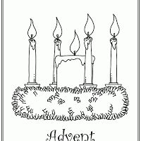 coloring pages advent wreath - photo#18