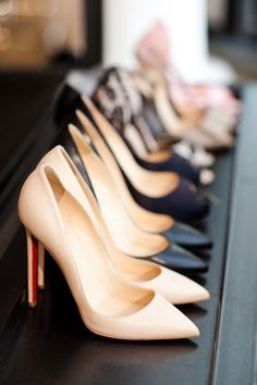 Rows of Louboutins!