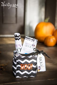 "The Littles Carry-All Caddy is perfect for ""Booing"" your neighbors! Print the kit and start spreading the #Halloween fun!"