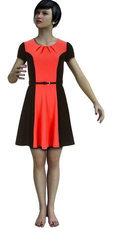 kostenloses Schnittmuster für ein Kleid. Es hat tolle Falten im Ausschnittbereich.