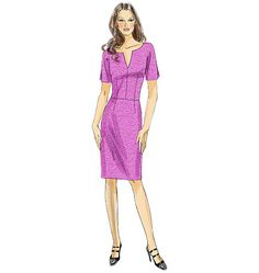 Vogue 8765 - topstitch at neck, waist, darts??