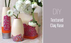 textured vase.