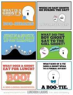 Fun LUNCHBOX LAUGHS- GHOSTS from Kiki & Co.