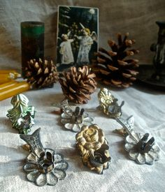 Antique Christmas candle clips