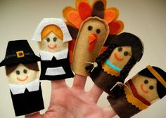 Thanksgiving finger puppet set