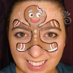 Christmas face paint idea.