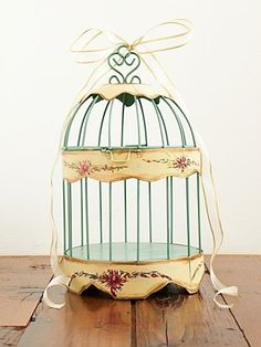Vintage Small Tin Birdcage at Free People Clothing Boutique - StyleSays